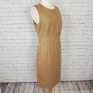 Judith & Charles Sleeveless Wool Tan Dress 8